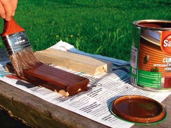Nanoszenie farb i impregnatów do drewna na próbki