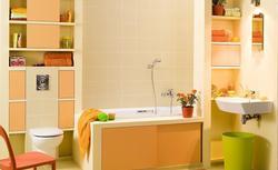 Remont łazienki. Przepis na pomarańczową aranżację łazienki