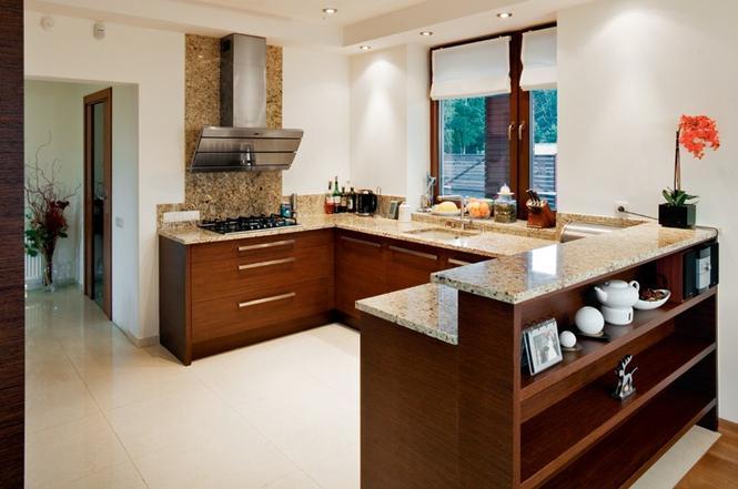 Nowoczesna jadalnia między kuchnią a salonem Praktyczna   -> Kuchnia Nowoczesna I Praktyczna