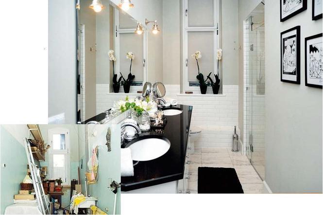 Metamorfoza łazienki - aranżacja retro