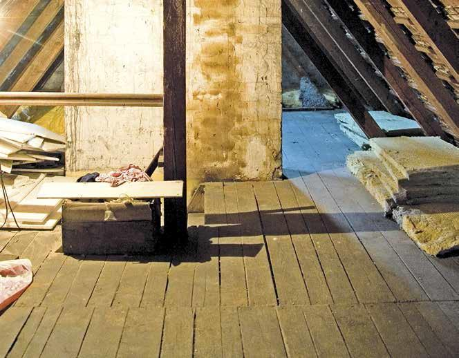 Poszycie starego stropu