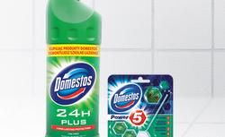 Zestaw produktów i gadżetów Domestos