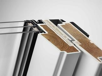 Okno drewniano-poliuretanowe VELUX GLU